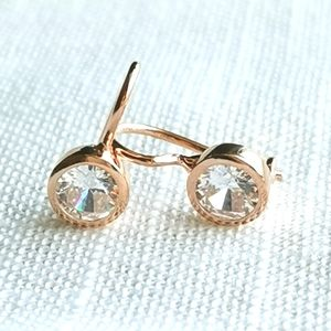 NWT Rose Gold over Sterling Silver CZ earr…